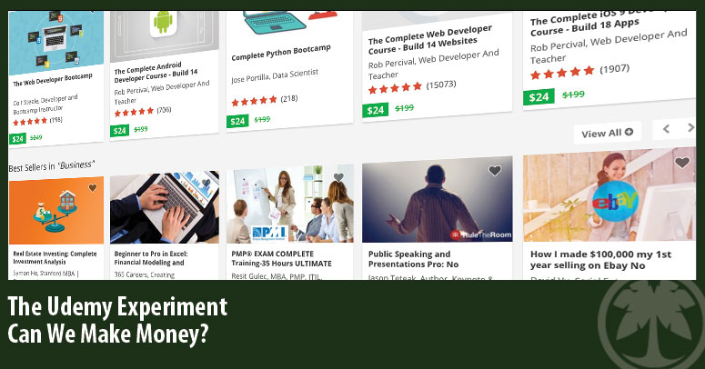 Make Money With Udemy - My Little Experiment